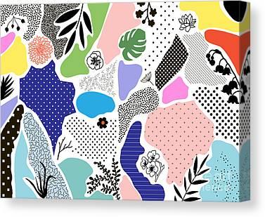 Memphis Design Canvas Prints