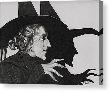 Bad Witch Drawings Canvas Prints