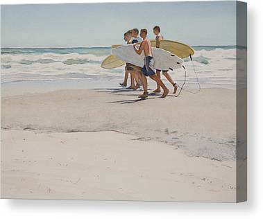 Surfboard Canvas Prints