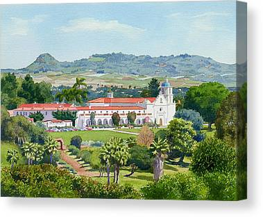 Spanish Missions Canvas Prints