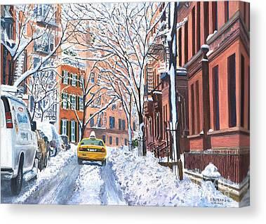 Snow Scene Canvas Prints