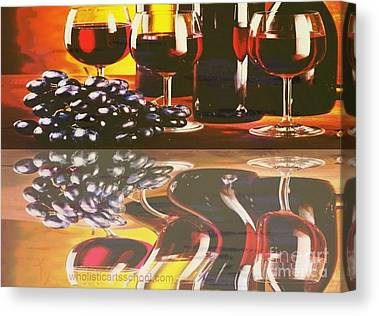 Wine Pooring Canvas Prints