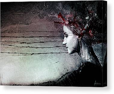 Barbwire Canvas Prints