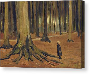 A Girl In A Wood Canvas Prints