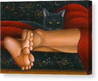 Cat work Paintings Canvas Prints