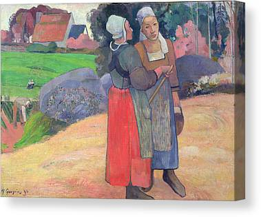 Breton Peasants Canvas Prints