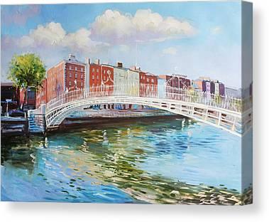 Halfpenny Bridge Canvas Prints