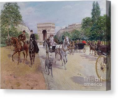Now The Avenue Foch Canvas Prints