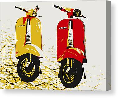 Scooters Canvas Prints