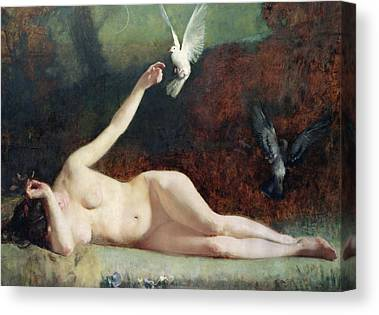 Nude Woman Nature Canvas Prints