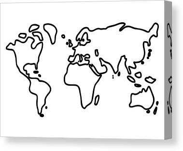 World Drawings Canvas Prints