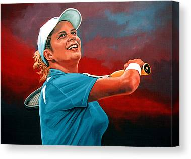 Belgian Tennis Player Canvas Prints