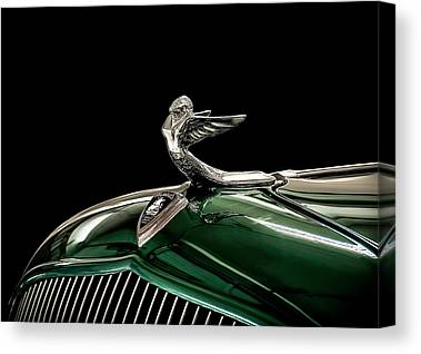 Vintage Hood Ornament Canvas Prints