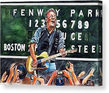 100th Anniversary Of Fenway Park Drawings Canvas Prints