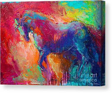 Impasto Horses Canvas Prints