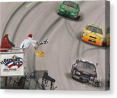 Race Drawings Canvas Prints