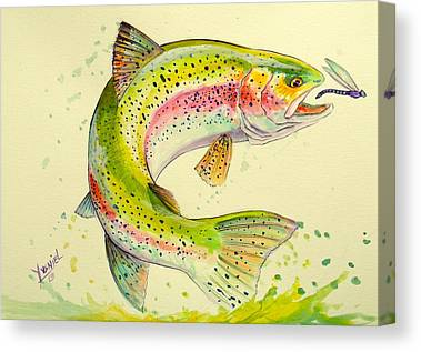 Trout Pattern Canvas Prints