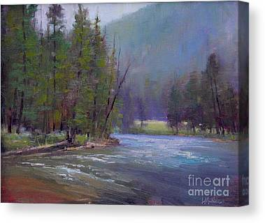 Gallatin River Paintings Canvas Prints