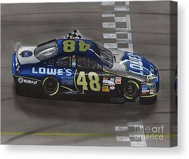 Stock Cars Canvas Prints