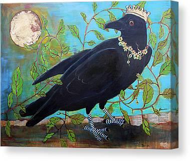 Goth Mixed Media Canvas Prints