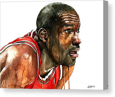 Michael Jordan Canvas Prints