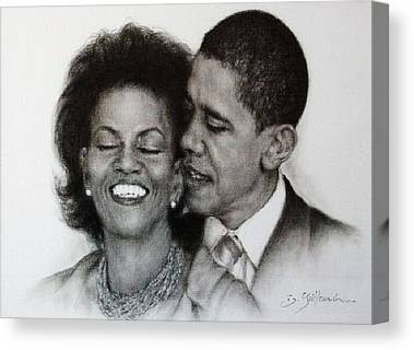 Michelle Et Barack Obama Canvas Prints