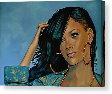 Rihanna Paintings Canvas Prints