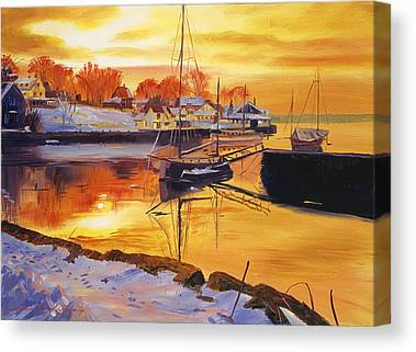 Docked Sailboat Canvas Prints