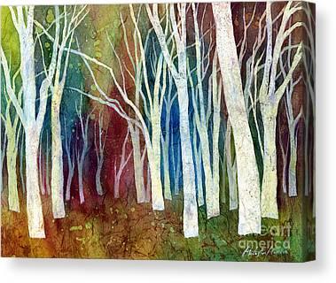 Sunlit Tree Canvas Prints
