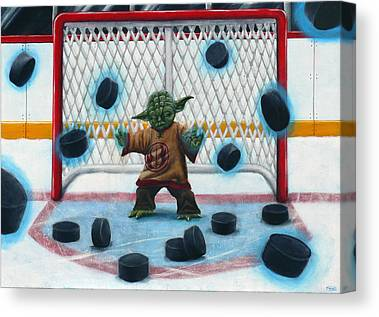 Goalie Canvas Prints