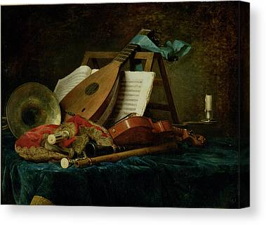 The Attributes Of Music Canvas Prints