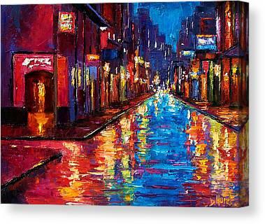 Rainy Night Canvas Prints