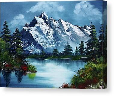 Bob Ross Paintings Canvas Prints