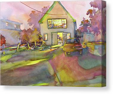 Maine Barns Paintings Canvas Prints