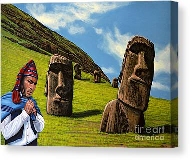 Easter Island Canvas Prints