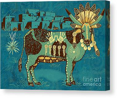 Santa Fe Digital Art Canvas Prints