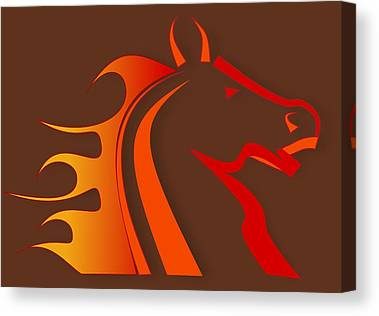 Horse Rider Canvas Prints