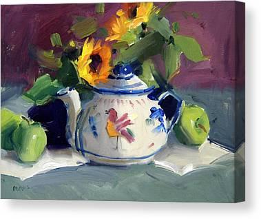 Flower Pots Canvas Prints