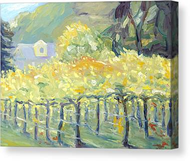Early Fall Landscape In Napa Canvas Prints