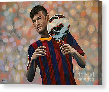 Neymar Canvas Prints