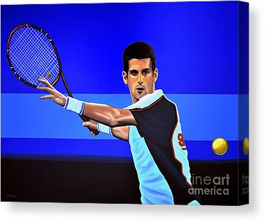 Novak Djokovic Canvas Prints