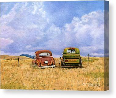 Abandoned Cars Canvas Prints