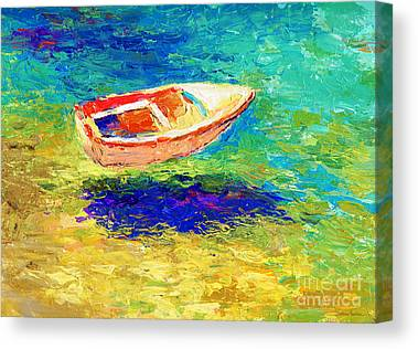 Waterscape Drawings Canvas Prints