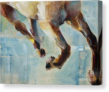 Abstract Equine Canvas Prints