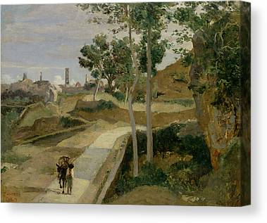 Tuscan Road Canvas Prints