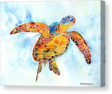 Turtle Paintings Canvas Prints