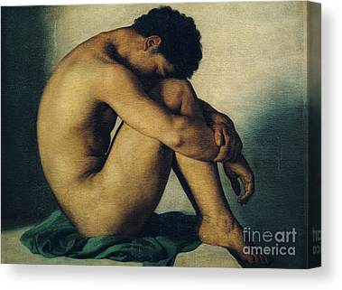Nude Young Man Canvas Prints