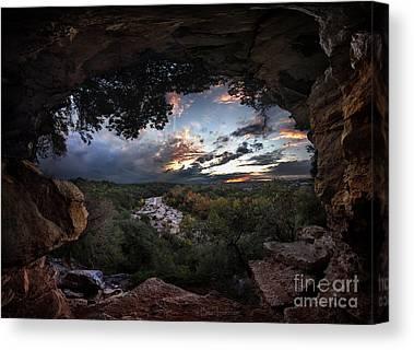Barton Creek Cave Canvas Prints