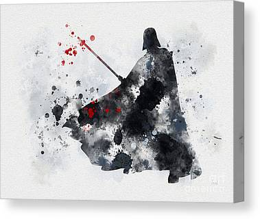 Attack Mixed Media Canvas Prints