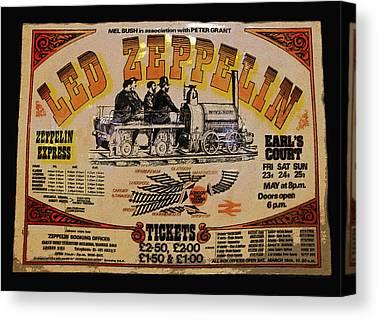 Led Zeppelin work Photographs Canvas Prints